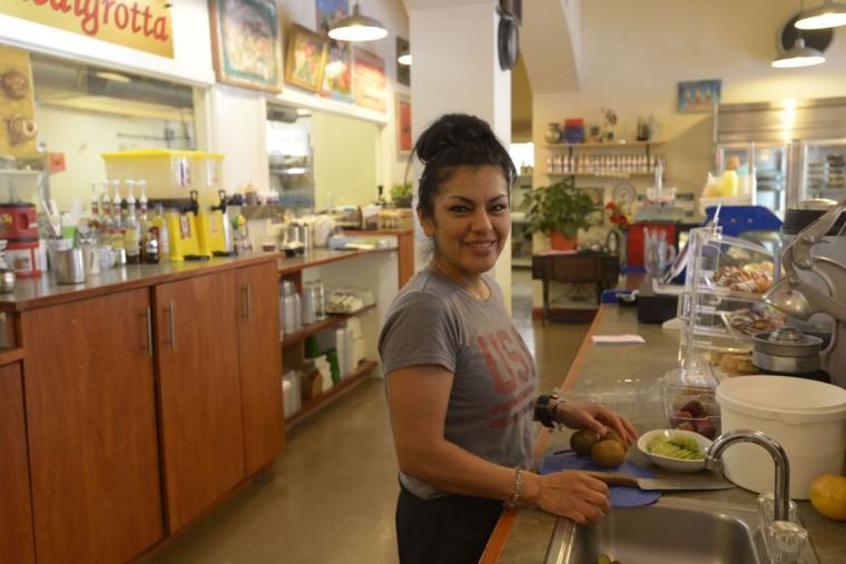 Martha Juella, a longtime employee of Piedigrotta Bakery near Little Italy. (Christina Tkacik/Baltimore Sun)