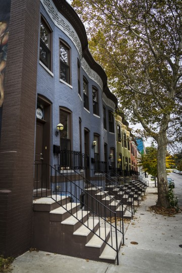 Houses in Baltimore. Doug Ebbert began photographing the city as a means of processing his grief following the sudden death of his son, Jesse. (Photograph courtesy of Doug Ebbert)