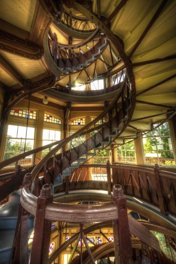 Interior of Patterson Park Pagoda. (Photo courtesy of Doug Ebbert)