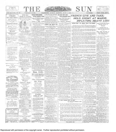 June 2 1918: World War 1 Battle of Belleau Wood