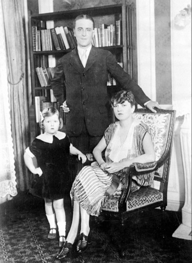 1926 file photo of F. Scott Fitzgerald and his wife, Zelda, and daughter, Scotty, in their Paris apartment. Fitzgerald lived in Paris as an expatriate during part of the period he christened 'the Jazz Age.'(AP Photo/File)