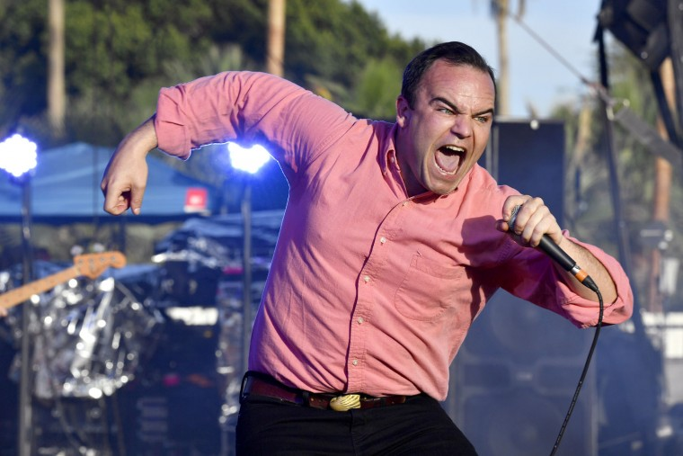 Samuel T. Herring of Future Islands performs on the Outdoor Theatre during day 3 of the Coachella Valley Music And Arts Festival (Weekend 1) at the Empire Polo Club on April 16, 2017 in Indio, California. (Photo by Frazer Harrison/Getty Images for Coachella)