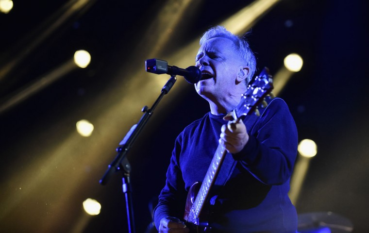 Musician Bernard Sumner of New Order performs on the Mojave stage during day 3 of the Coachella Valley Music And Arts Festival (Weekend 1) at the Empire Polo Club on April 16, 2017 in Indio, California. (Photo by Emma McIntyre/Getty Images for Coachella)