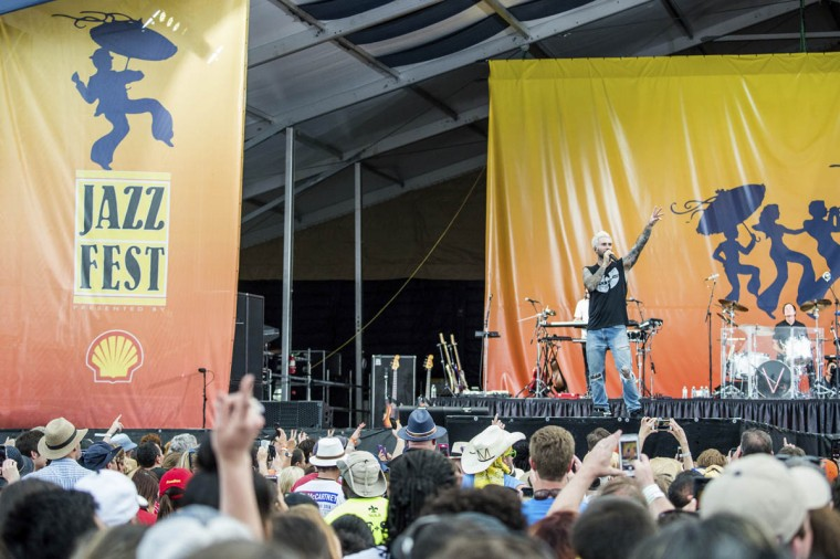 Adam Levine of Maroon 5 performs at the New Orleans Jazz and Heritage Festival on Saturday, April 29, 2017, in New Orleans. (Amy Harris/Invision/AP)