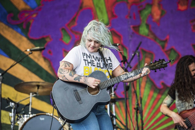 Elle King performs at the New Orleans Jazz and Heritage Festival on Sunday, April 30, 2017, in New Orleans. (Amy Harris/Invision/AP)