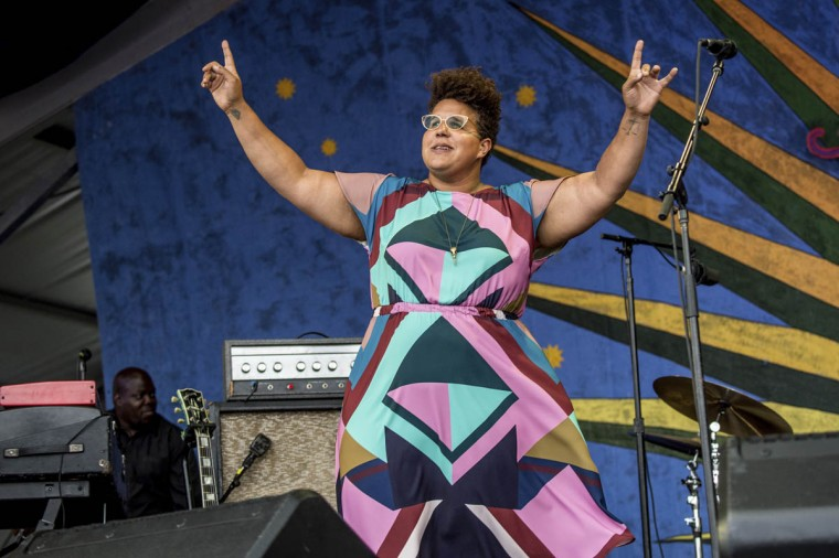 Brittany Howard of Alabama Shakes performs at the New Orleans Jazz and Heritage Festival on Saturday, April 29, 2017, in New Orleans. (Amy Harris/Invision/AP)