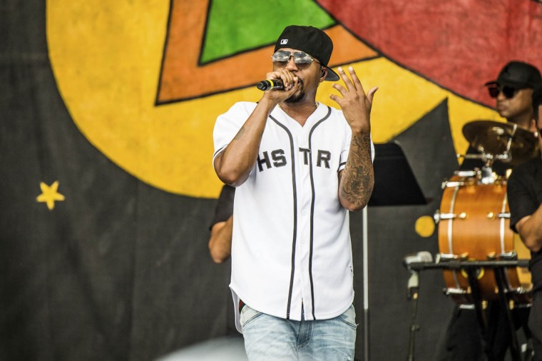 Nas performs at the New Orleans Jazz and Heritage Festival on Friday, April 28, 2017, in New Orleans. (Amy Harris/Invision/AP)
