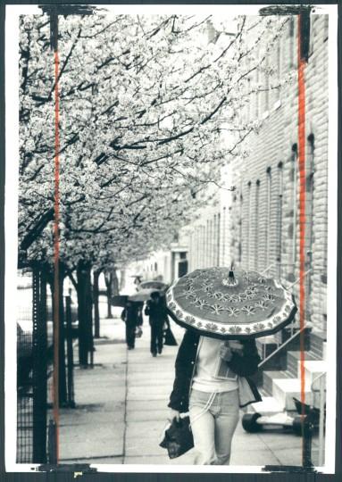 A rainy scene in Baltimore, photo dated April 3, 1979. (Baltimore Sun)