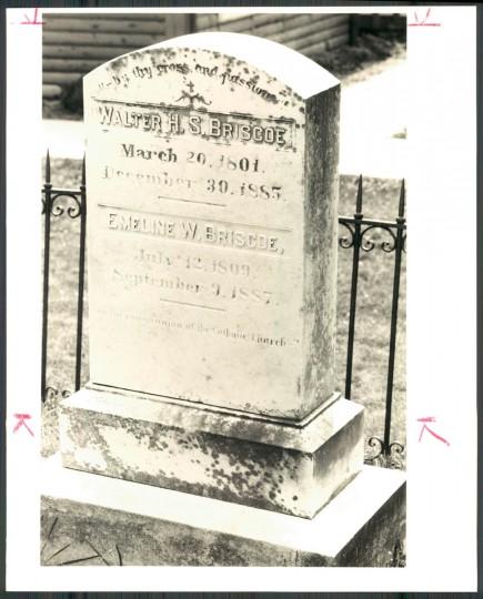 Agnes Kane Callum traces ancestors Walter and Emeline Briscoe. 1990 photo. (Baltimore Sun archives)