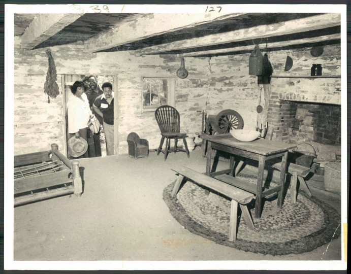 Inside the cabin at Sotterley Plantation, photo dated May 22, 1978. (Baltimore Sun archives)
