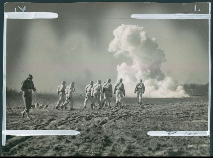 Chemical weapons testing at Edgewood Arsenal. Photo dated March 7, 1943. (Baltimore Sun)