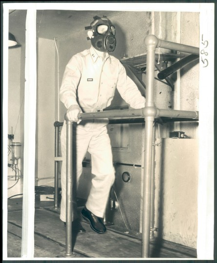Photo from chemical weapons testing at Edgewood Arsenal, photo dated September 10, 1957. (Baltimore Sun)