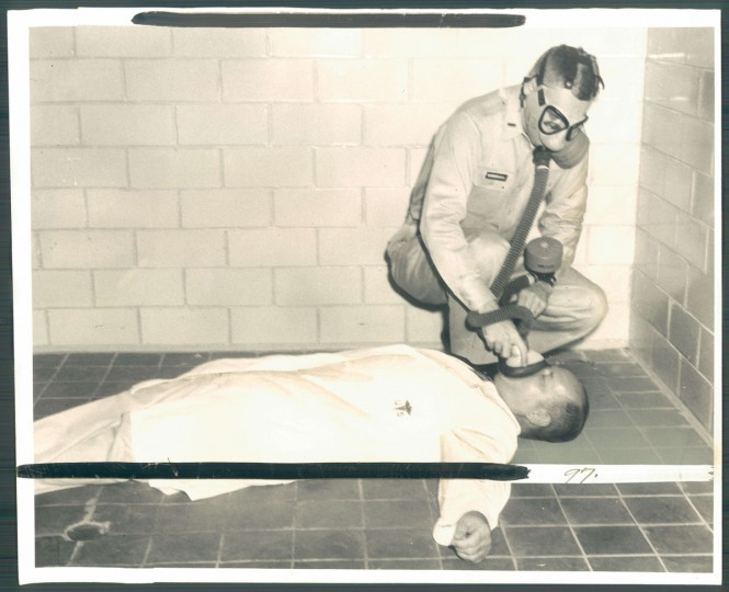 Photo of chemical weapons testing at Edgewood Arsenal in photo dated September 11, 1957. (Baltimore Sun)