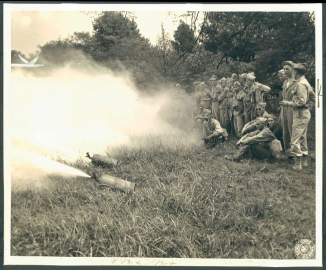 Testing at Edgewood Arsenal, photo dated September 19, 1943. (Baltimore Sun)