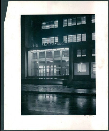 The Sun building is pictured in 1951 (A. Aubrey Bodine/Baltimore Sun)