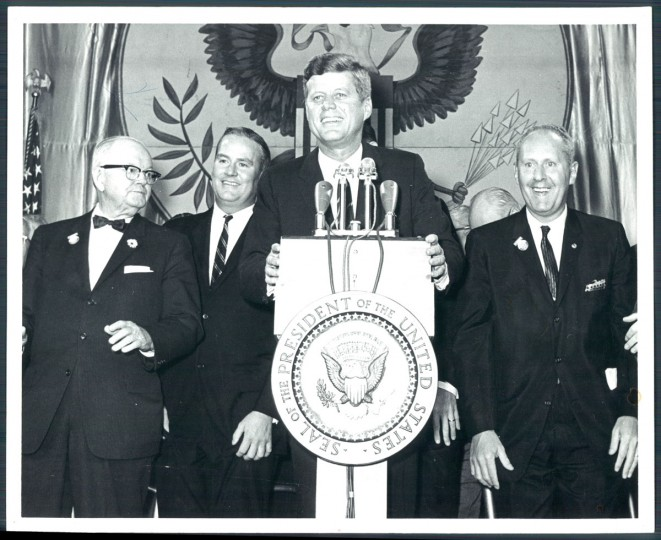 Senator Kennedy's visit to Baltimore in 1962 during his presidential campaign. (Baltimore Sun archives)