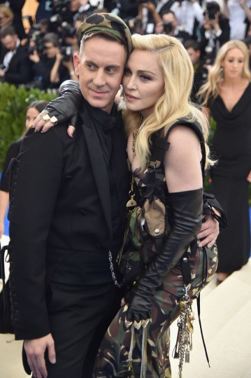 """NEW YORK, NY - MAY 01: Jeremy Scott (L) and Madonna attend the """"Rei Kawakubo/Comme des Garcons: Art Of The In-Between"""" Costume Institute Gala at Metropolitan Museum of Art on May 1, 2017 in New York City. (Photo by Theo Wargo/Getty Images For US Weekly)"""