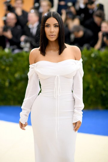 """NEW YORK, NY - MAY 01: Kim Kardashian attends the """"Rei Kawakubo/Comme des Garcons: Art Of The In-Between"""" Costume Institute Gala at Metropolitan Museum of Art on May 1, 2017 in New York City. (Photo by Dimitrios Kambouris/Getty Images)"""