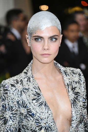 """NEW YORK, NY - MAY 01: Cara Delevingne attends the """"Rei Kawakubo/Comme des Garcons: Art Of The In-Between"""" Costume Institute Gala at Metropolitan Museum of Art on May 1, 2017 in New York City. (Photo by Dia Dipasupil/Getty Images For Entertainment Weekly)"""