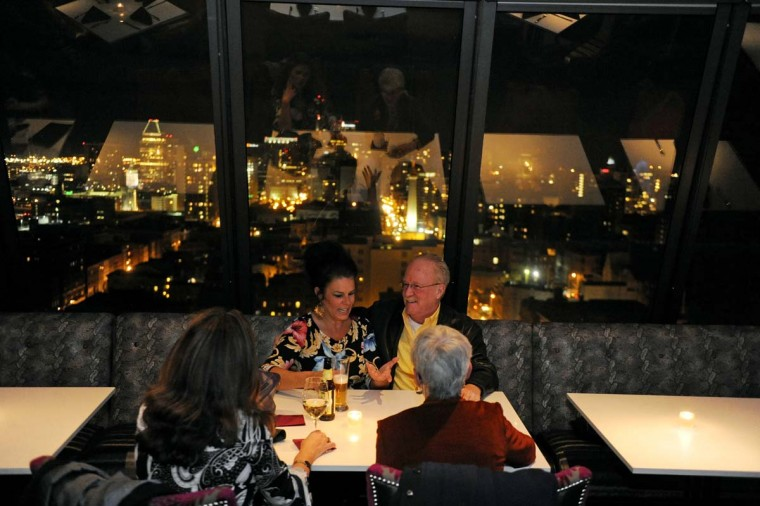 The dining room at the 13th Floor at The Belvedere is pictured on Nov. 2, 2012. (Special to the Sun / Colby Ware)