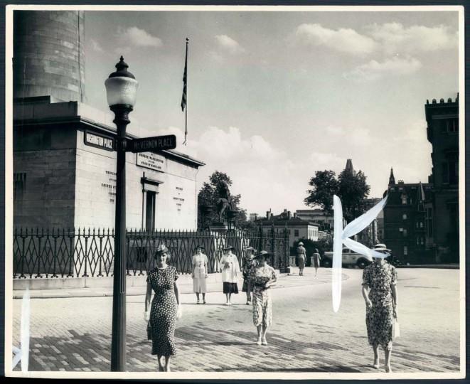 A view of Mount Vernon on Sept. 6, 1936. (Baltimore Sun photo)