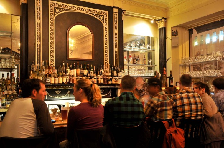 The bar at Brewers Art in Mount Vernon is pictured on Nov. 1, 2012. (Amy Davis/Baltimore Sun)