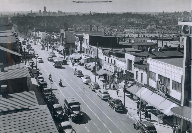 Undated photo of Eastern Avenue in Highlandtown. (Baltimore Sun archives)