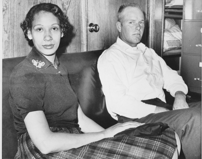 This Jan. 26, 1965 file photo shows Mildred Loving and her husband Richard P Loving. Fifty years after Mildred and Richard Loving's landmark legal challenge shattered the laws against interracial marriage in the U.S., some couples of different races still talk of facing discrimination, disapproval and sometimes outright hostility from their fellow Americans. (AP Photo)