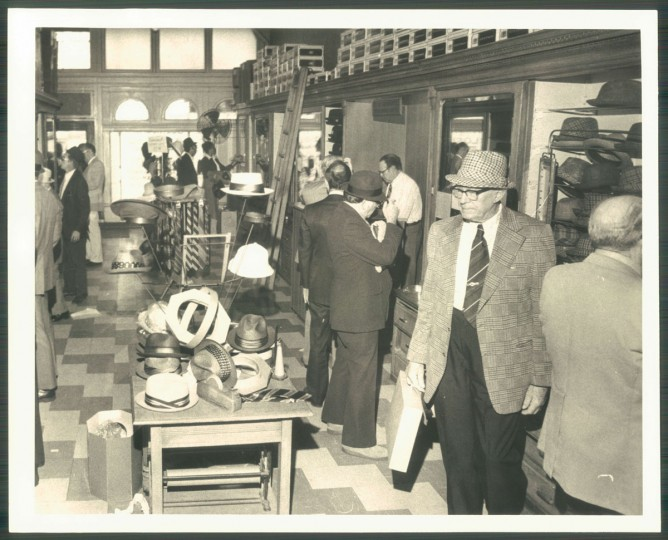 The Southcomb Hat Store, along with several other milliners in the city, once sold straw hats to Baltimoreans, among other fine toppers. (Baltimore Sun archives)