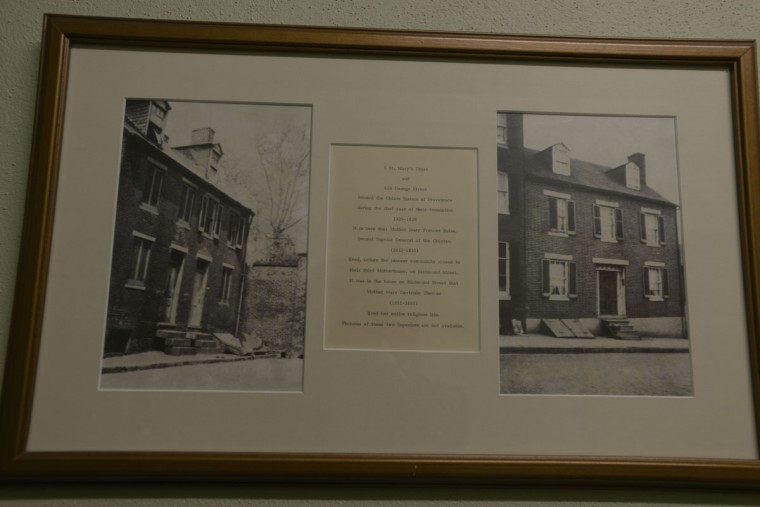"""Photos show the first addresses of the Oblate Sisters of Providence -- around what was then the city's """"French Quarter"""" -- before they moved to a third """"motherhouse"""" on Richmond Street. In the 1960s, the sisters moved to their current location in Catonsville. (Christina Tkacik/Baltimore Sun)"""