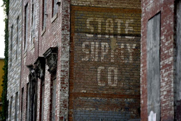 Ghost sign of State Supply Co. on Harford Road. (Kim Hairston/Baltimore Sun)