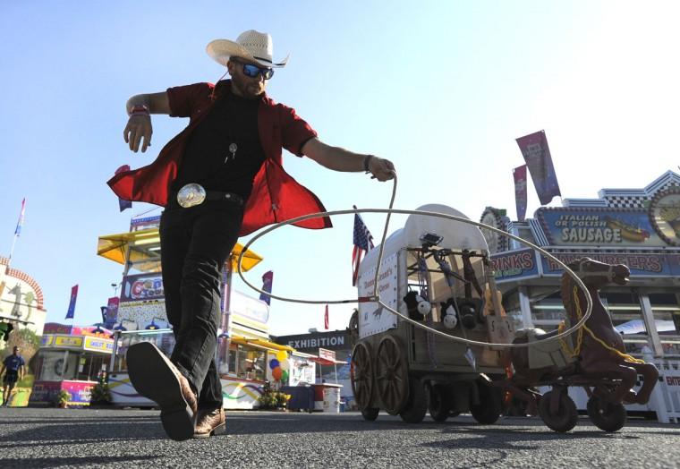 Danny Grant of San Antonio performs some of his rope tricks at the fair. (Lloyd Fox/Baltimore Sun)