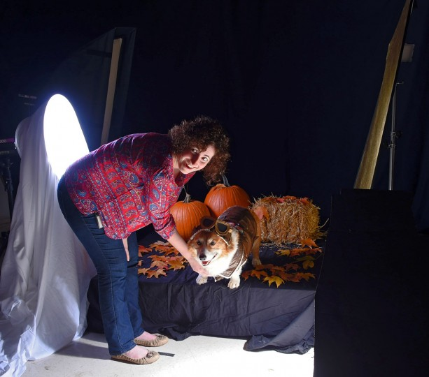 Studio set up for the pet Halloween costume shoot. (Karl Merton Ferron/Baltimore Sun)