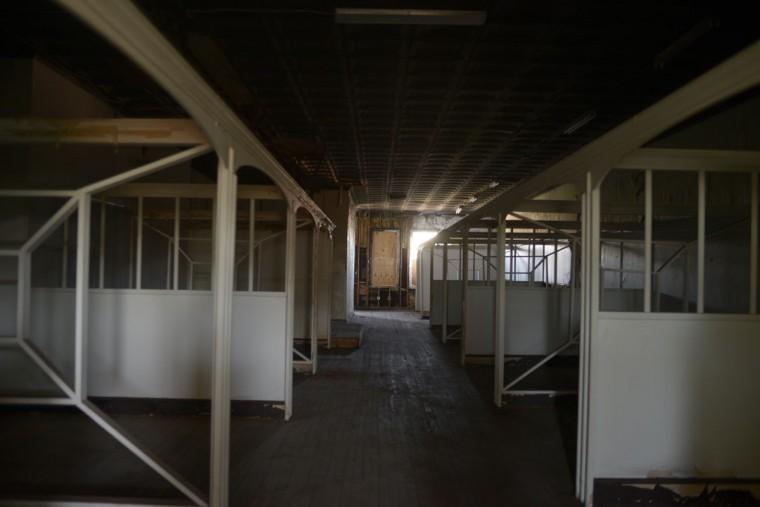 Hudson said set designers sometimes turned to the building itself for inspiration. (Christina Tkacik/Baltimore Sun)