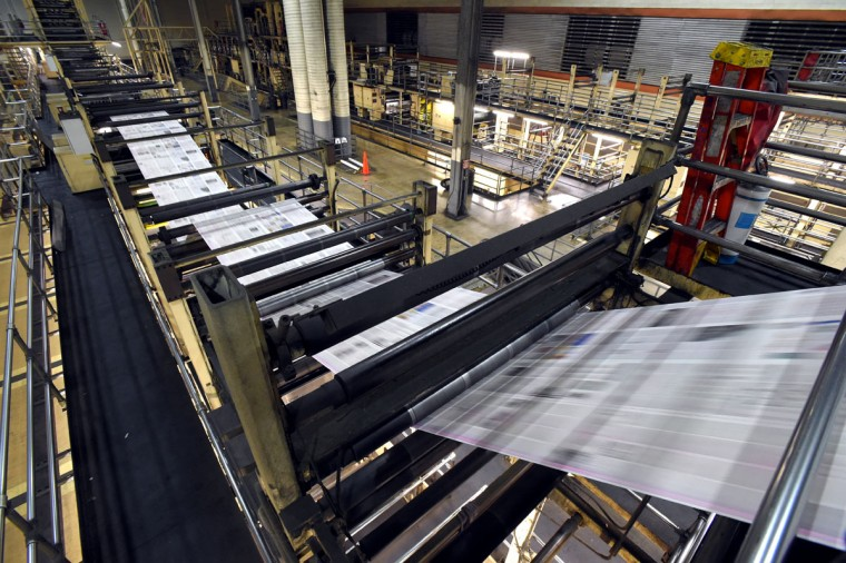 The Baltimore Sun Media Group's Sun Park printing press in operation opened in 1992. (Lloyd Fox/Baltimore Sun)