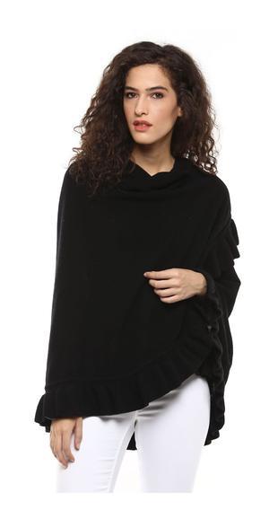 Ruffle trim shawl