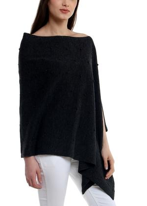 Bubble knit poncho