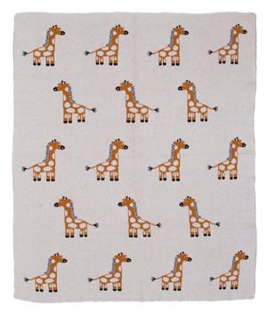 Gilly Giraffe baby blanket