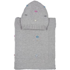 Bubbles baby blanket with beanie