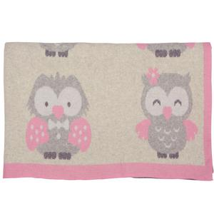 Cute owls baby blanket