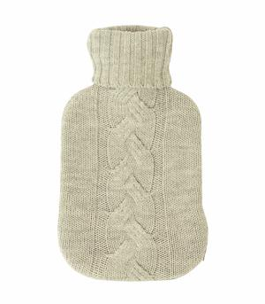 Cable Knit Hot Water Bottle Cover