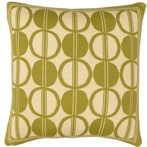 Circle trellis pillow