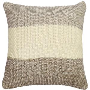 Marl moss stripe pillow
