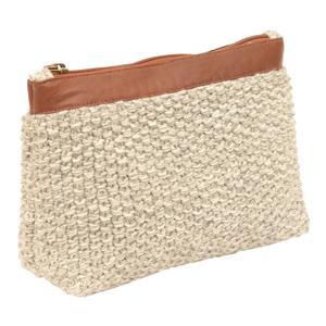Moss knit pouch