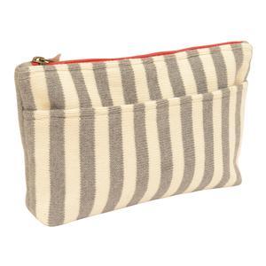 Vertical stripe pouch