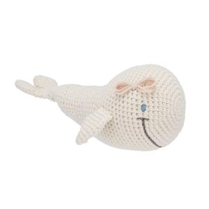 Whale rattle toy