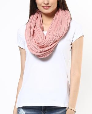 Pointelle knit scarf