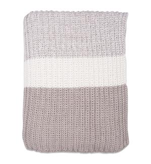 Chunky Rib knit throw
