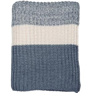 Chunky rib knit throw