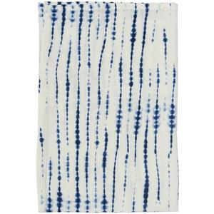 Shibori rope tea towel